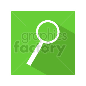 green magnifying glass vector icon clipart. Commercial use image # 416452