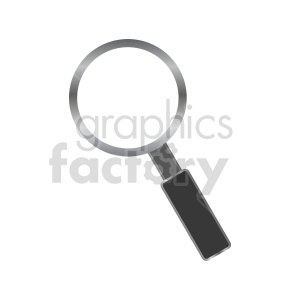 chrome magnifying glass vector icon clipart. Commercial use image # 416471