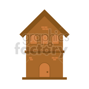 two story house vector clipart clipart. Commercial use image # 416487