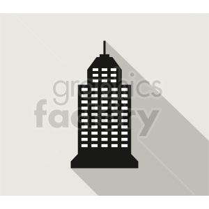 skyscraper vector icon on gray background clipart. Commercial use image # 416510