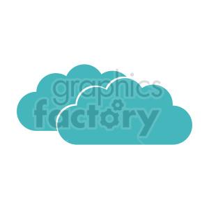 clipart - double cloud vector clipart icon.