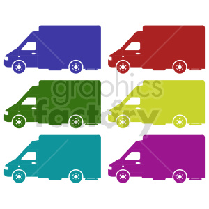 work trucks vector clipart set clipart. Commercial use image # 416567