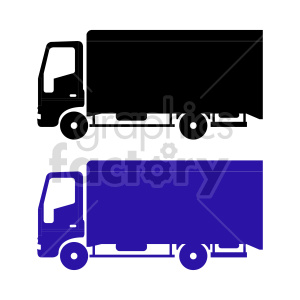 clipart - delivery truck vector graphics.