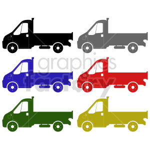 clipart - delivery trucks vector graphic bundle.