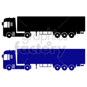 clipart - semi trucks vector graphic set.