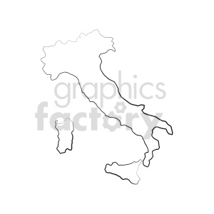 clipart - italy outline vector clipart.