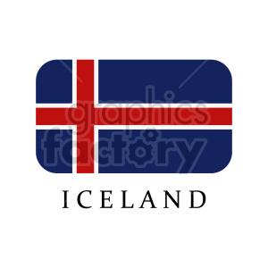 clipart - iceland flag vector clipart.