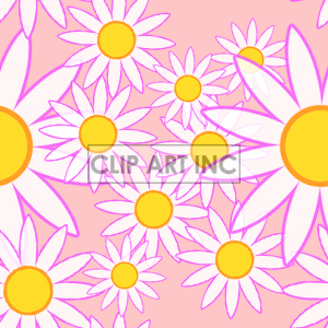 tiled daisy background