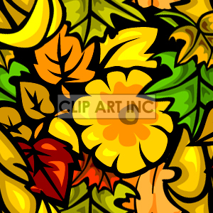 Leaves tiled background clipart. Royalty-free image # 128207