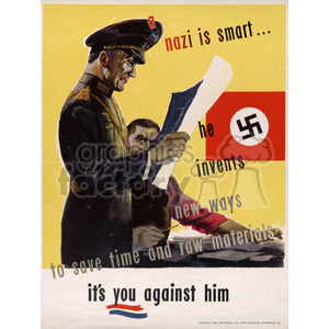 Nazi Is Smart Poster clipart. Royalty-free image # 152913