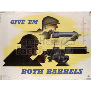 Give'em Both Barrels clipart. Commercial use image # 152923