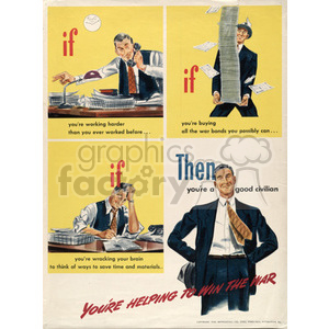 war posters world II   MPW00072 Clip Art Old War Posters