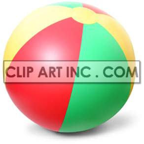 colorful beach ball clipart. Royalty-free image # 177423