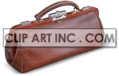 valise case doctor call handle physician md medicine healthcare medical bag luggage brown leather  Photos Objects