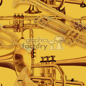 091306-trumpets background. Royalty-free background # 371755