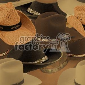 tiled cowboy hat background