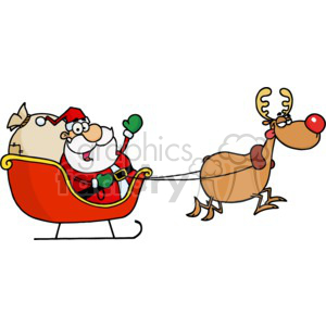 Christmas Holidays Santa+Claus Saint+nick sleigh reindeer red+nose Rudolph