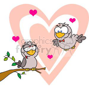Two Turtle Doves clipart. Royalty-free image # 377862