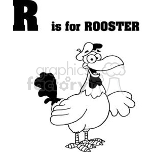 R as in Rooster clipart. Commercial use image # 377931