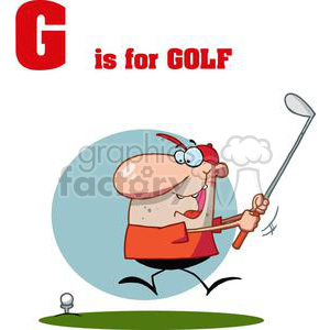 G as in Golfer  swing golf club clipart. Royalty-free image # 377956