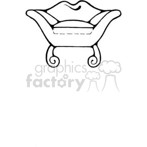 Sofa-Chair-Lips clipart. Royalty-free image # 380200