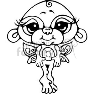 Bitty-Monkey-Fairy clipart. Royalty-free image # 380220
