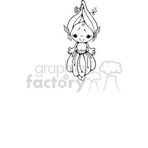 little girl pea pod clipart. Royalty-free image # 380225