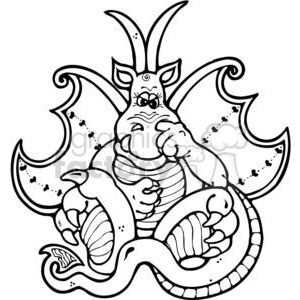 Dragon-Picker clipart. Royalty-free image # 380240