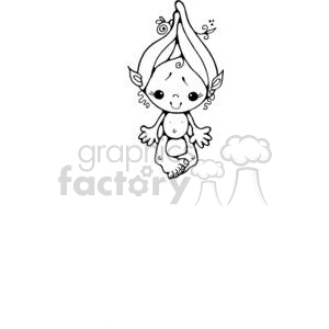 little girl troll clipart. Royalty-free image # 380250