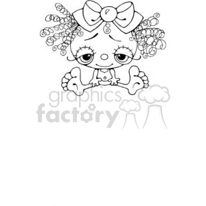 Girl-Silly clipart. Royalty-free image # 380260