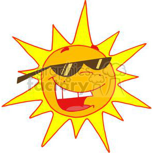 2741-Hot-Sun-Cartoon-Character clipart. Royalty-free image # 380270
