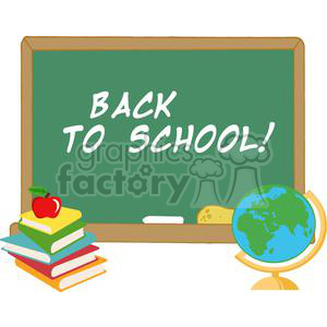 2730-Elementary-School-Design-With-Text-Back-to-School! clipart. Royalty-free image # 380300