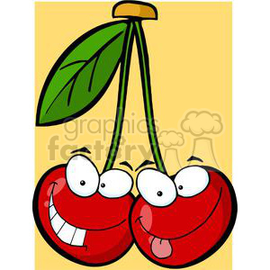 2862-Red-Cherrys-Cartoon-Characters clipart. Commercial use image # 380315