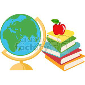 cartoon funny illustration education school book books earth globe world