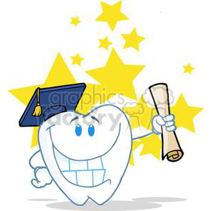 2969-Successful-Graduate-Tooth-Holding-A-Diploma clipart. Royalty-free image # 380400