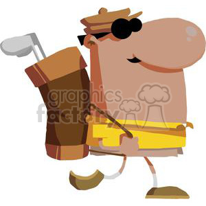 2823-African-American-Walking-Golfer-Carries-Club clipart. Royalty-free image # 380430