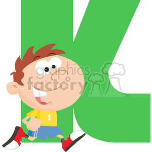 2755-Funny-Cartoon-Alphabet-K clipart. Commercial use image # 380465