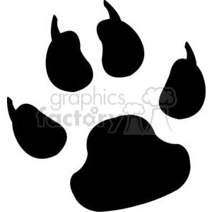 2774-Paw-Print-Black-Silhouette clipart. Commercial use image # 380470