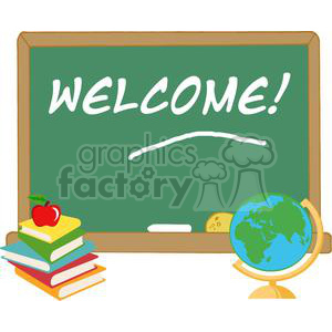 2729-Elementary-School-Design-With-Text-Welcome! clipart. Commercial use image # 380485