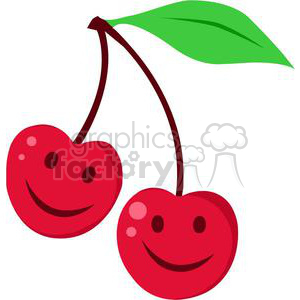 red cartoon cherries