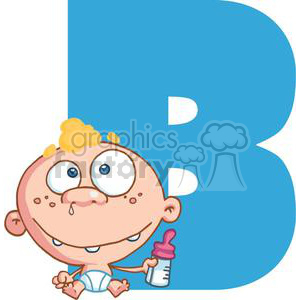 2746-Funny-Cartoon-Alphabet-B clipart. Royalty-free image # 380515