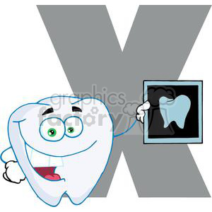 2768-Funny-Cartoon-Alphabet-X clipart. Royalty-free image # 380545