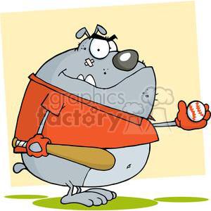 Bulldog clipart. Royalty-free image # 380550