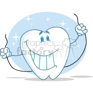 2948-Smiling-Tooth-Cartoon-Character-Always-Floss clipart. Royalty-free image # 380565