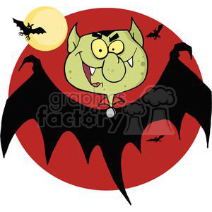 3124-Flying-Vampire clipart. Commercial use image # 380584