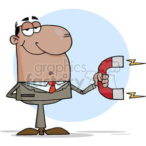 3149-African-American-Businessman-Using-A-Magnet clipart. Royalty-free image # 380594