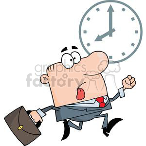 3251-Businessman-Being-Late clipart. Royalty-free image # 380609