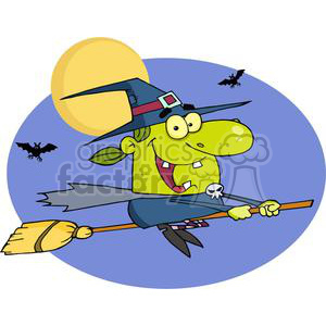 3116-Halloween-Witch clipart. Royalty-free image # 380614