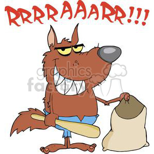 wolf costume for Halloween clipart. Commercial use image # 380634