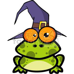 3221-Frog-With-A-Witch-Hat clipart. Royalty-free image # 380659